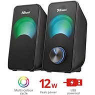 Trust Arys Compact RGB 2.0 Speaker Set - Reproduktory