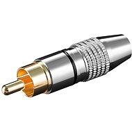 OEM Konektor cinch(M) na kabel, černý pruh, zlacený - Konektor