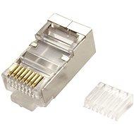OEM Konektor RJ45 kat. 6/6a stíněný, na kulatý kabel (lanko), 100ks - Konektor
