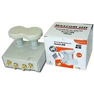 LNB Mascom Monoblock Quad MCM4QS01HD Gold 4.3° - Konvertor