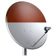 TeleSystem satelitní železná parabola 74x84cm červená, karton - Parabola