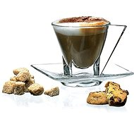 RCR Šálek s podšálkem na cappuccino 190 ml set 4 ks FUSION - Šálek s podšálkem