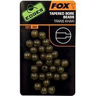 FOX Edges Tapered Bore Beads 4mm Trans Khaki 30ks - Korálek