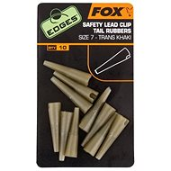 FOX Edges Slik Lead Clip Tail Rubber Trans Khaki Velikost 10 10ks