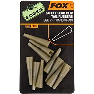 FOX Edges Lead Clip Tail Rubbers Velikost 7 Trans Khaki 10ks