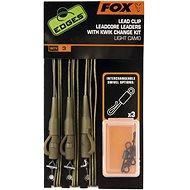 FOX Leadcore Lead Clip Rigs + Kwik Change Kit Light Camo 3ks