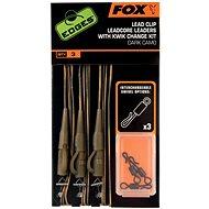 FOX Leadcore Lead Clip Rigs + Kwik Change Kit Dark Camo 3ks
