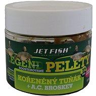 Jet Fish Boosterované pelety Legend Kořeněný tuňák + Broskev 12mm 120g