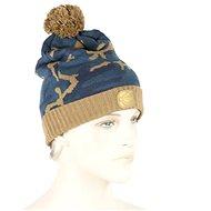 RidgeMonkey - Kulich Camo Bobble Hat Hnědo-modrý - Čepice