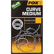 FOX Edges Armapoint Curve Medium Velikost 6B Barbless 10ks - Háček