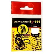 Extra Carp Teflon Hooks EX 666 Barbless Velikost 4 10ks - Háček