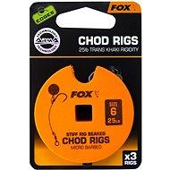 FOX Standard Chod Rigs Barbed Velikost 6 25lb 3ks - Návazec