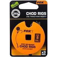 FOX Standard Chod Rigs Barbed Velikost 8 25lb 3ks - Návazec