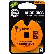 FOX Standard Chod Rigs Barbless Velikost 8 25lb 3ks - Návazec