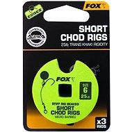 FOX Short Chod Rigs Barbed Velikost 6 25lb 3ks - Návazec