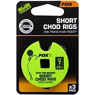 FOX Short Chod Rigs Barbed Velikost 7 25lb 3ks - Návazec