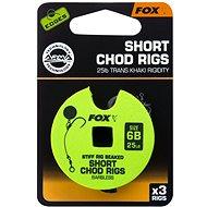 FOX Short Chod Rigs Barbless Velikost 6 25lb 3ks - Návazec