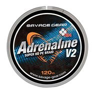 Savage Gear Šňůra HD4 Adrenaline V2 0,19mm 28lbs 12,8kg 120m Šedá - Šňůra