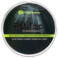 RidgeMonkey RM-Tec Braided Mainline 0,28mm 20lb 300m Zelená - Šňůra
