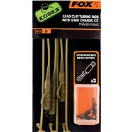 FOX Lead Clip Tubing Rigs + Kwik Change Kit Trans Khaki 3pcs - Assembly Kit