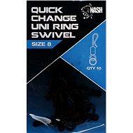 Nash Quick Change Uni Ring Swivel 10ks - Obratlík