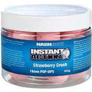 Nash Instant Action Strawberry Crush Pop Ups 18mm 60g - Pop-up boilies