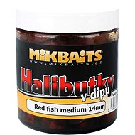 Mikbaits Halibutky v dipu Red fish 14mm 250ml - Pelety