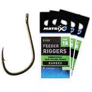 FOX Matrix Feeder Riggers Hooks Barbless Velikost 18 10ks