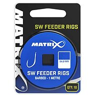 FOX Matrix 1m SW Feeder Rigs 0,165mm Velikost 12 10ks - Návazec