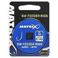 FOX Matrix 1m SW Feeder Rigs 0,145mm Velikost 16 10ks - Návazec