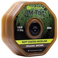 RidgeMonkey RM-Tec Soft Coated Hooklink 25lb 20m Hnědá - Šňůra