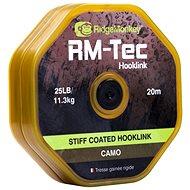 RidgeMonkey RM-Tec Stiff Coated Hooklink 25lb 20m Camo - Šňůra