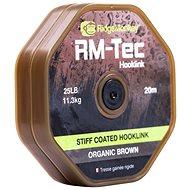 RidgeMonkey RM-Tec Stiff Coated Hooklink 25lb 20m Hnědá - Šňůra