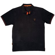 FOX Polo Shirt Black/Orange - Tričko