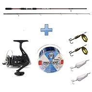 Saenger Přívlačový set SensiTec Trout 2,7m 8-28g + vlasec a třpytky ZDARMA - Rybářská sada