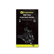 RidgeMonkey RM-Tec Flexi Ring Swivel Velikost 8 10ks - Obratlík