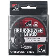 DAM Crosspower 8-Braid 0,13mm 7,2kg 16lb 110m Dark Grey - Šňůra