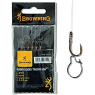 Browning Feeder Trophy Fish Hook-to-Nylon Velikost 10 0,25mm 12lbs/5,6kg 75cm 6ks
