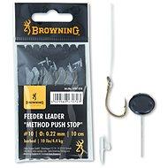 Browning Feeder Leader Method Push Stop Velikost 12 0,20mm 7,5lbs/3,4kg 10cm 6ks - Návazec