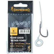Browning Feeder Leader Method Power Pellet Band Velikost 14 0,22mm 10lbs/4,5kg 10cm 6ks - Návazec