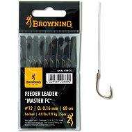 Browning Feeder Leader Master FC Velikost 12 0,16mm 1,9kg/4lbs 60cm 5ks - Návazec