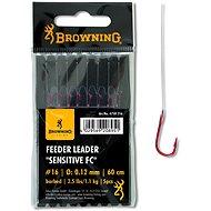 Browning Feeder Leader Sensitive FC Velikost 16 0,12mm 1,1kg/2,5lbs 60cm 5ks - Návazec