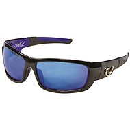 Mustad HP Polarized Sunglasses Black Frame + Smoke Lens with Blue Revo - Brýle