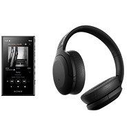 Sony MP4 16GB NW-A105L černý + Sony Hi-Res WH-H910N černá - Sada