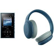 Set Sony MP4 16GB NW-A105L modrý + Sony Hi-Res WH-H910N modrá - Set