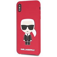 Karl Lagerfeld Full Body Iconic pro iPhone XS Max Red - Kryt na mobil