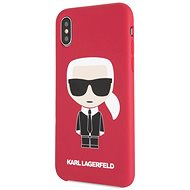 Karl Lagerfeld Iconic Bull Body pro iPhone X/XS Red - Kryt na mobil