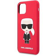 Karl Lagerfeld Iconic Body Cover for iPhone 11, Red (EU Blister) - Mobile Case