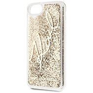 Karl Lagerfeld Signature Glitter pro iPhone 8/SE 2020 Gold - Kryt na mobil