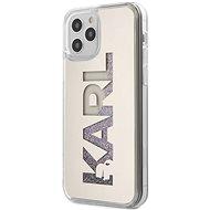 Karl Lagerfeld Liquid Glitter Mirror pro Apple iPhone 12 Pro Max Silver - Kryt na mobil